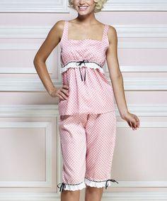 Look what I found on #zulily! Pink & White Deco Dot Pajama Set by Jessie Steele #zulilyfinds