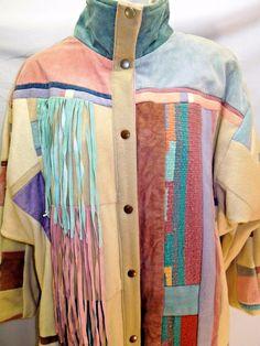 #SantaFeRecreations Vintage #Duster #Fringe #Leather #Suede #Tapestry #Wool #Boho #Southwestern #VintageFashion #WomensFashion