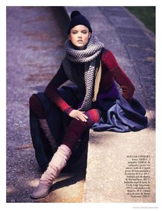 Victoria's Secret model Martha Hunt looks prepared for the cold winter in layered ensembles with a 1980s inspired twist for this fashion editorial featured in the January 2015 issue of Vogue Spain. The blonde stunner poses for David Bellemere as she shows off how to pose in sporty shapes. Styled by Marina Gallo, Martha works it in looks from ...