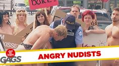 The Naked Protest Prank