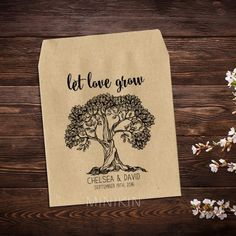 Wedding Seed Packets Let Love Grow Tree - W-A115