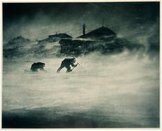 30. Blizzard at Cape Denison ~ Cape Denison, Antarctica, c. 1912. Frank Hurley. carbon print