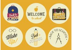Free vector Vector Back to School Badges School Badges, Vector Art, Back To School, Clip Art, Templates, Free, Holidays, Projects, Role Models