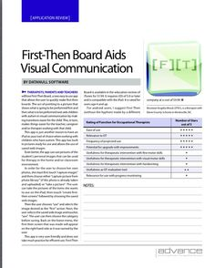 App review by Angelia Wood, OTR/L, Easily create visual communication aids.  Main website http://occupational-therapy.advanceweb.com/Web-Extras/Online-Extras/App-of-the-Week.aspx  Pinned by SOS Inc. Resources http://pinterest.com/sostherapy.