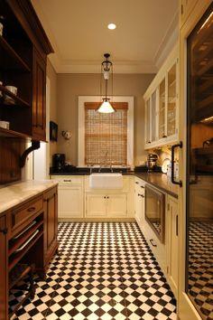 Large maroon:Retro Kitchen Flooring Ideas Chess Tile Design For Kitchen Flooring Ideas