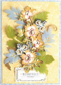 Anna Griffin Cards, September 11, Die Cutting, Card Stock, Floral Wreath, Decor, Style, Swag, Decoration