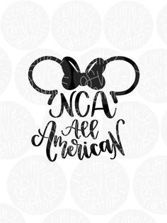 Nca Cheer, Cheerleading, Cheer Posters, Disney Planner, Mickey Shirt, Cheer Shirts, Disney Designs, Cricut Vinyl, Vector File
