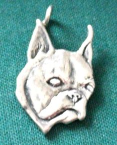 Boston Terrier Dog Breed 3d .925 Solid Sterling Silver Charm Made In Usa Body Piercing Jewelry