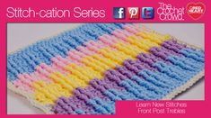 This texture teaches you how to raise up ridges like a rib stitch on the front side of your project. Once you established the first row, following the rest is super easy.