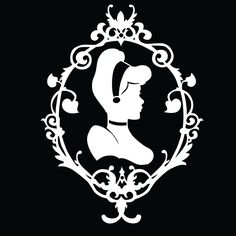 Cinderella Silhouette vinyl decal by HappyRhinoDesigns on Etsy, $14.00