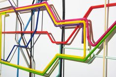 Kyle Bean - London Underground Map - Made From Plastic Drinking Straws