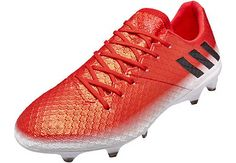 new concept f87d0 8c19a adidas Messi 16.1 FG in red, black and white. Buy yours from SoccerPro  Adidas