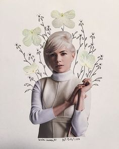 michelle williams flower collage by kate rabbit - No. 30/100