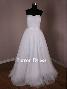 love love love! Simple Wedding Dresses / Beach Wedding Dresses / by LoverDress, $169.00