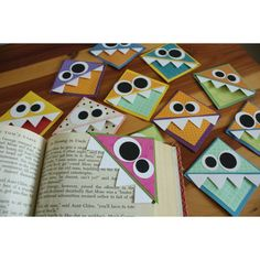 Corner munching book marks ... cute for a little gift for the kids