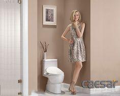 Bồn cầu Caesar nắp rửa điện tử mang lại không gian phòng tắm hoàn hảo tiện nghi