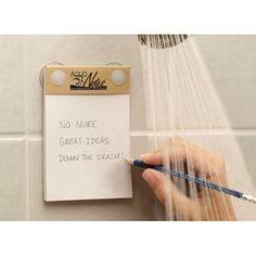 waterproof shower notes