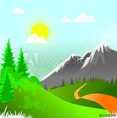 Illustration, Vectors, Alps, Illustrations
