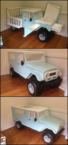 Getting ready for the arrival of the newest addition to your family? Here's a great way to welcome him - his very own Truck Crib!   This DIY Truck Crib can be parked in one corner of your baby room. The back of the truck can be the baby's bed and underneath the hood, the changing table.   How cool is that? Want to make one for your baby?  Get more ideas by heading over to our site at  http://theownerbuildernetwork.co/easy-diy-projects/ideas-for-kids/unique-cribcradle-ideas/