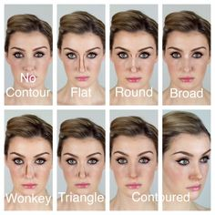 """Contouring Your Nose - Makeup Techniques Nose , Contouring Your Nose Contouring Your Nose How to Contour Your Nose Contouring your nose is to help you create your """"perfect nose shape"""" and different . Thin Nose, Wide Nose, Nose Makeup, Contour Makeup, How To Contour Nose, Upturned Nose, Bulbous Nose, Crooked Nose, Different Nose Shapes"""