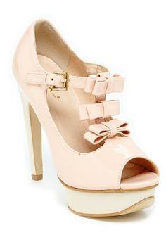 ec8d32d67f6 Open Toe Bow Pumps - LOVE the little bows on top! Shoes Heels