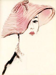 Fashion illustration by Eric, 1953