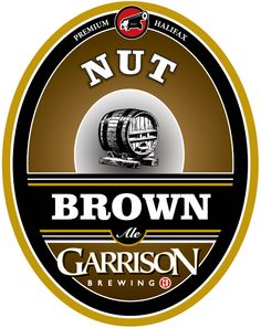 Garrison Brewing Co. Canadian Beer, British Beer, Beer Art, Beer Signs, Beer Labels, Brewing Company, Logos, Brown, English