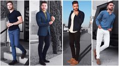 4 Easy Outfits for Men | The Blue Lookbook | Men's Fashion Inspiration Fall 2017 - YouTube