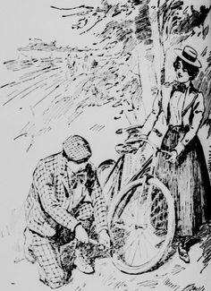"""""""Opening of Bicycle Season"""". From the April 14, 1898 Aberdeen Herald"""