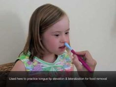 Practice tongue tip elevation and lateralization with the Z-Vibe.  Visit pinterest.com/arktherapeutic for more #oralmotor therapy tools and exercises