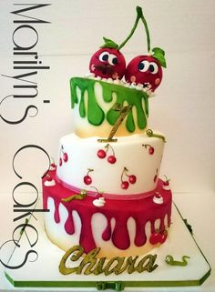 Cherry Sweet Table - Cake by marilynscakes90