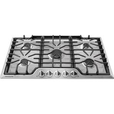 Gallery Gas Cooktop in Stainless Steel with Five Burners from Frigidaire is designed with easy to use angled front controls. Kitchen Stove, Kitchen Appliances, Kitchen Redo, Kitchen Cabinets, Electric Wall Oven, Frigidaire, Oven Canning, Time Design, Design Ideas