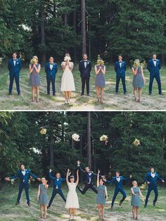 Perfectly harmonious - navy for the groomsmen and a shade or 2 darker for the…