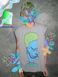 VISHNU seapunk BEAVIS punk TANK X L. $40.00, via Etsy.