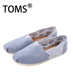 University Grey Rope Sole Women Toms Classics