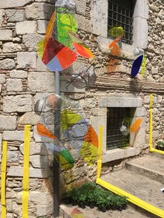 Miles de opciones para el uso de Vitroflex de colores en Girona Temps de Flors.