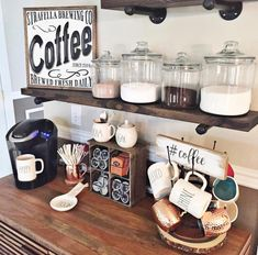 Bar ideas #Coffee station ideas you need to see (coffee bar ideas) #Coffeebar #Coffeestation