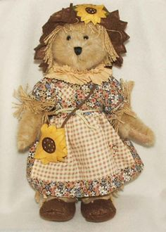 Limited Edition Boyds Bears Plush September Bear of the Month Haylee Autumnbeary