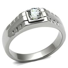 Jewelry for men. $12.49. Stainless Steel 0.80 Carat Cubic Zirconia Wedding Ring for Men