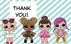 L.O.L. surprise dolls thank you cards