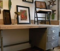 1000 images about upcycled desk on pinterest filing Upcycled metal filing cabinet