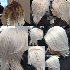 Platinum Ice (On Frozen Blonde). I love this platinum white blonde!