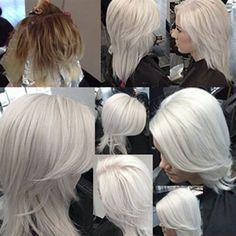 Platinum Ice (On Frozen Blonde). I love this platinum white blonde!