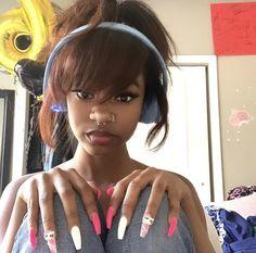 Baddie Hairstyles, Black Girls Hairstyles, Cute Hairstyles, Pretty Black Girls, Pretty Woman, Pritty Girls, Pretty People, Beautiful People, Black Girl Aesthetic