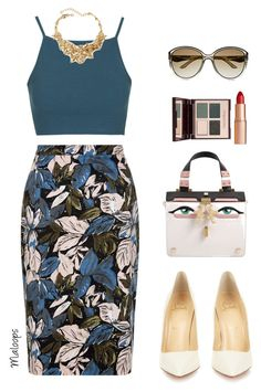 ~Summer days drifting away to oh oh the summer nights~ by maloops on Polyvore featuring polyvore fashion style Topshop Christian Louboutin Giancarlo Petriglia Oscar de la Renta Valentino Charlotte Tilbury clothing Summer DateNight summerdatenight