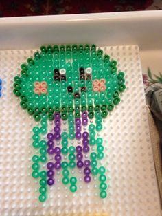 Perler beads kawaii jellyfish