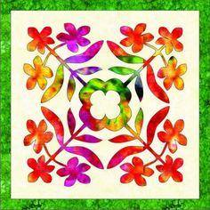 Hawaiian Quilt Patterns, Hawaiian Pattern, Hawaiian Quilts, Applique Patterns, Applique Quilts, Tropical Quilts, Small Quilts, Lap Quilts, Quilt Blocks