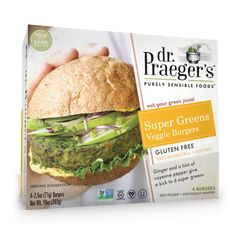 Super Greens Veggie Burger  CONTAINS QUINOA, TEFF, CANOLA OIL