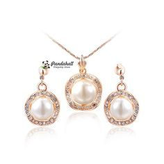 Imitation Pearl Necklaces and Stud Earrings Jewelry Sets from Pandahall Flagship Store on Aliexpress.com