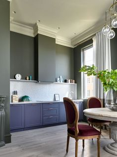 〚 Stylish apartment with classic features for mother in Moscow sqm) 〛 ◾ Photos ◾Ideas◾ Design Decor, House Design, Stylish Apartment, Interior, Small Apartments, Interior Design Kitchen, Kitchen Cooker Hood, Cozy Apartment, Interior Design